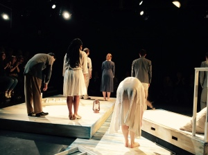 Final Curtain Call, Romeo and Juliet, at LAMDA's Linbury Studio, September 17th 2015 Photo: michellepdaoust