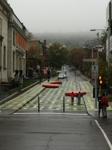 Fog over Mount Royal, Sherbrooke St., Montreal Photo taken by me