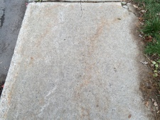 Older sidewalk.
