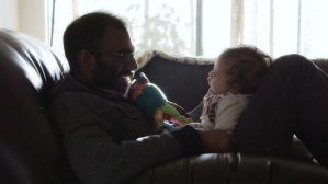 Paul Kalanithi at the end of his life with his infant daughter Cady