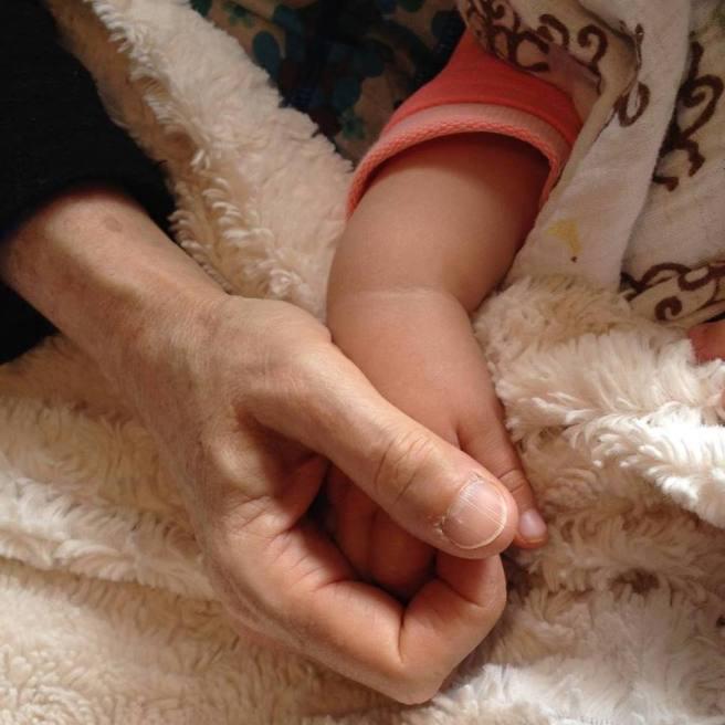 Penelope's hand in mine