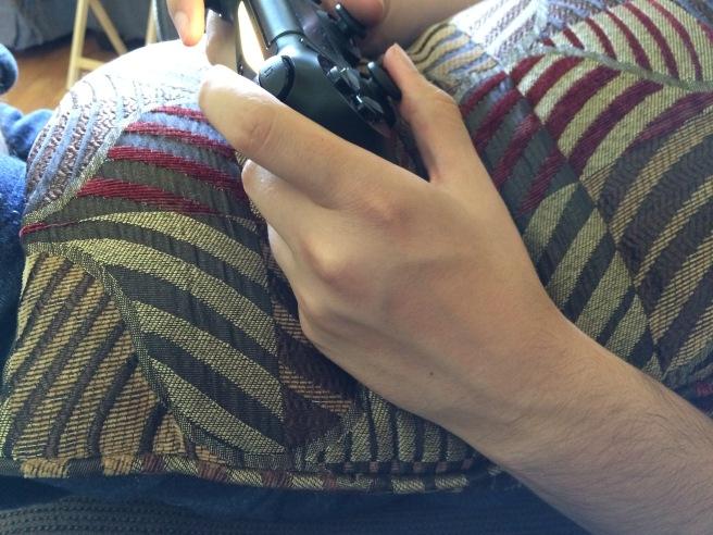 Christian's hand