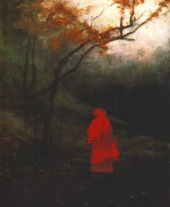 Władysław Wankie. Alone in the Park. ca. 1900