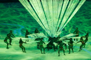 Rio de Janeiro - Cerimônia de abertura dos Jogos Olímpicos Rio 2016 no Estádio do Maracanã. (Fernando Frazão/Agência Brasil)
