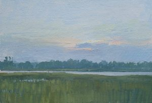Marc Dalessio, Dawn on the marsh (plein air painting in the rain)