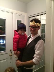 Simon with Graeme, Christmas 2015