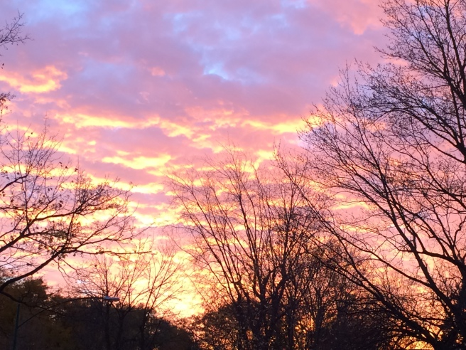 November Sunset, photo by me
